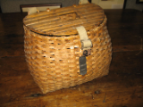 ANTIQUE CREEL WITH SLAT TOP