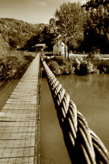 "KENNETH MURRAY PHOTOGRAPHY "" CLINCH RIVER AT FLATROCK - SEPIA "" 9.5"" X 13"""