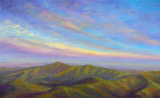 "JEFF PITTMAN "" VIEW FROM FUNNEL TOP MOUNTAIN "" ORIGINAL OIL ON CANVAS"