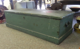 ANTIQUE GREEN PAINTED BOX