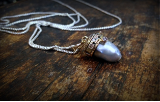 "KYLE LEISTER "" GREY PEARL & DIAMOND PENDANT """