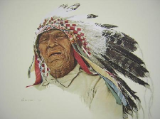 "JAMES BAMA LIMITED EDITION PRINT "" A CROW INDIAN """