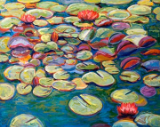 "LARRY SMITH "" LILY PAD STUDY 4 """