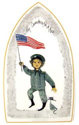 "P. BUCKLEY MOSS ORNAMENT "" MY COUNTRY TIS OF THEE """