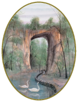 "P. BUCKLEY MOSS ORNAMENT "" NATURAL BRIDGE """
