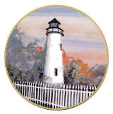 "P. BUCKLEY MOSS ORNAMENT "" OCRACOKE LIGHTHOUSE """