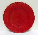 VIETRI OLD ST. NICK ROUND RED PLATTER