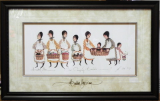 "P. BUCKLEY MOSS FRAMED PRINT "" OUR CARRYING BASKETS """