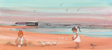 "P. BUCKLEY MOSS GICLEE "" OUR DAY AT THE BEACH """