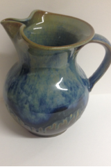 RAY POTTERY BLUE LARGE PITCHER