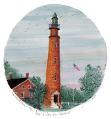 "P. BUCKLEY MOSS PRINT "" PONCE DE LEON INLET LIGHTHOUSE """