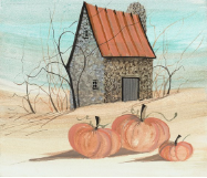 "P. BUCKLEY MOSS GICLEE "" THE PUMPKIN BARN """