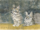 "P. BUCKLEY MOSS PRINT "" PURRFECT PAIR """