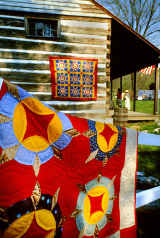 "KENNETH MURRAY PHOTOGRAPHY "" THE EXCHANGE PLACE, KINGSPORT, TN QUILTS "" 9.5"" X 13"""