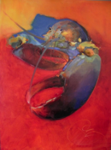 "BOB RANSLEY ""LOBSTER ON RED"""