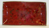 RAY POTTERY RED RECTANGULAR PLATTER (AMOEBA)