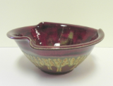 RAY POTTERY RED TULIP BOWL