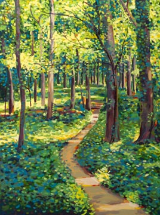 "LARRY SMITH "" ROBBIE'S TRAIL 2 "" ORIGINAL OIL ON CANVAS"