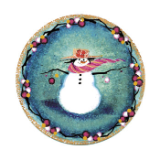 "P. BUCKLEY MOSS ORNAMENT "" SNOW MUCH FUN """