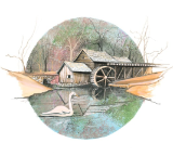 "P. BUCKLEY MOSS GICLEE "" SPRING AT MABRY MILL """