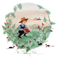 "P. BUCKLEY MOSS PRINT "" THE STRAWBERRY PATCH """