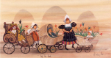 "P. BUCKLEY MOSS PRINT "" TULIP TIME PARADE """