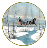 "P. BUCKLEY MOSS ORNAMENT "" WINTER SLEIGH """