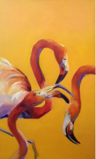 "BOB RANSLEY "" THREE FLAMINGOS """