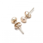 PEARL GIRLS 5 MM PINK PEARL EARRINGS