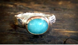 "KYLE LEISTER "" AMAZONITE RING """