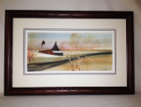"P. BUCKLEY MOSS FRAMED GICLÉE ""A TIME TO HARVEST"""