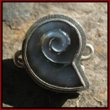 TABRA SHELL CARVED BLACK MOTHER OF PEARL CONNECTOR CHARM