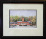 "LORRAINE BREWER FRAMED PRINT "" THE CLINCHFIELD RAILROAD "" (SMALL)"