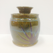 "PAUL GASKINS "" SMALL POT W/ LID """