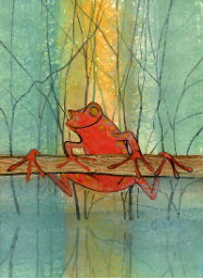 "P. BUCKLEY MOSS GICLEE ON PAPER "" HANG IN THERE """