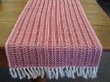 RED STRIPES TABLE RUNNER