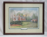 "LORRAINE BREWER FRAMED PRINT "" ROTHERWOOD MANSION """