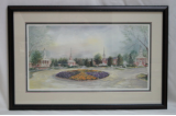 "LORRAINE BREWER FRAMED PRINT "" CHURCH CIRCLE 2000 """