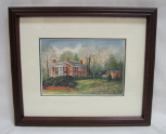 "LORRAINE BREWER FRAMED PRINT "" ROTHERWOOD MANSION "" (SMALL)"