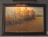 JOHN LLOYD JONES ORIGINAL OIL PAINTING WITH DUCK HUNTERS