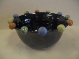 BATTON CLAY MEDIUM BLACK SERVING BOWL