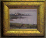 """BAY SCENE"" BY V. VAUGHAN FRAMED"