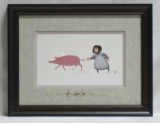 "P. BUCKLEY MOSS FRAMED PRINT "" LISA ANNE """