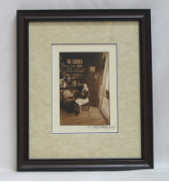 "KENNETH MURRAY PHOTOGRAPHY "" LADY IN COUNTRY STORE "" SEPIA - FRAMED"