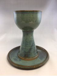 "PAUL GASKINS "" COMMUNION ""  CHALICE AND PATEN "" SET"