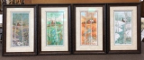 "P. BUCKLEY MOSS SET OF "" FOUR SEASONS "" FRAMED"