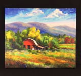 """ RED BARN ON CANE CREEK "" GICLEE"