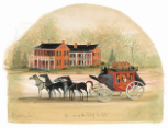 "P. BUCKLEY MOSS PRINT "" INN AT THE END OF THE ROAD """