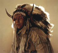 "JAMES BAMA LIMITED EDITION PRINT "" KEN BLACKBIRD AS AN ASSINIBOIN SIOUX """