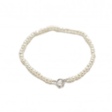 PEARL GIRLS 3MM WHITE BABY BRACELET 5''